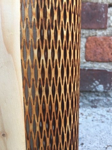 Close up of the laser cut portion